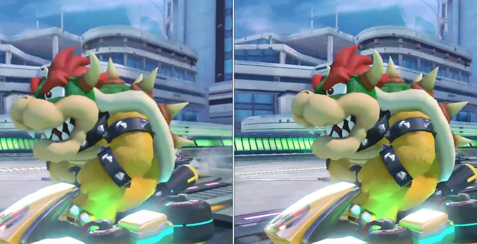 Here S Mario Kart 8 Deluxe On Nintendo Switch Compared To Wii U