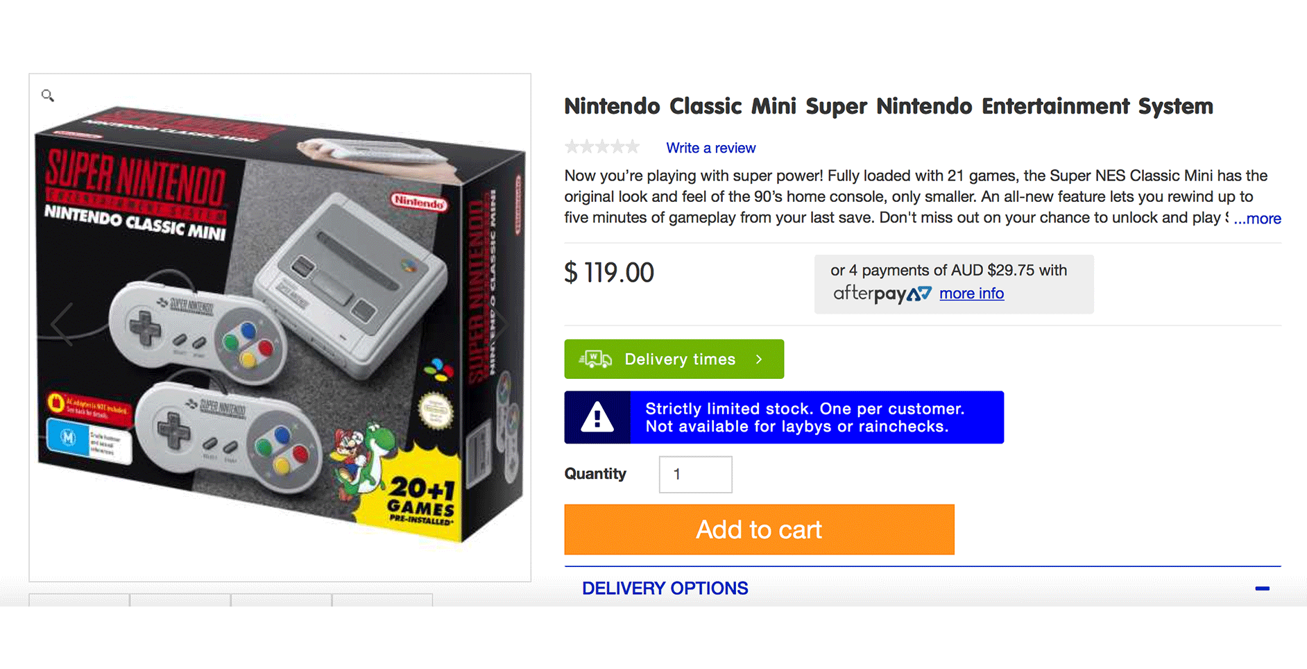 Big W Have The SNES Classic Mini For Sale Online Right Now